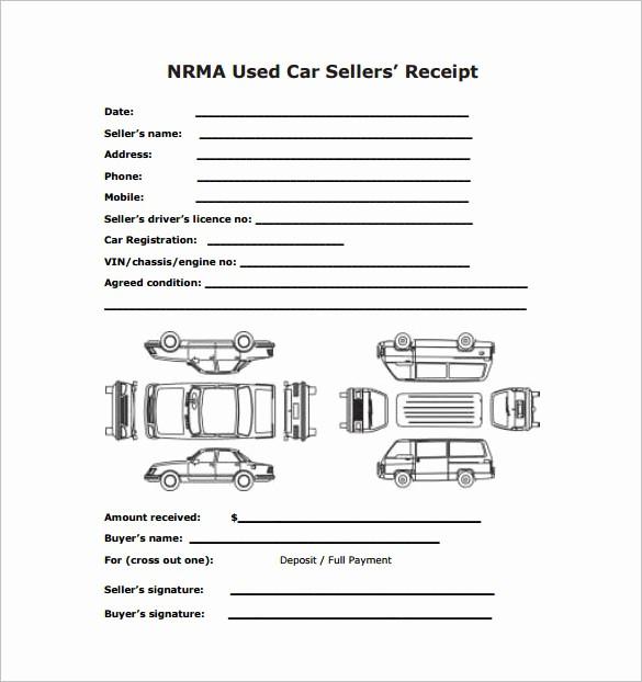Receipt for Purchase Of Car Inspirational 13 Car Sale Receipt Templates Doc Pdf