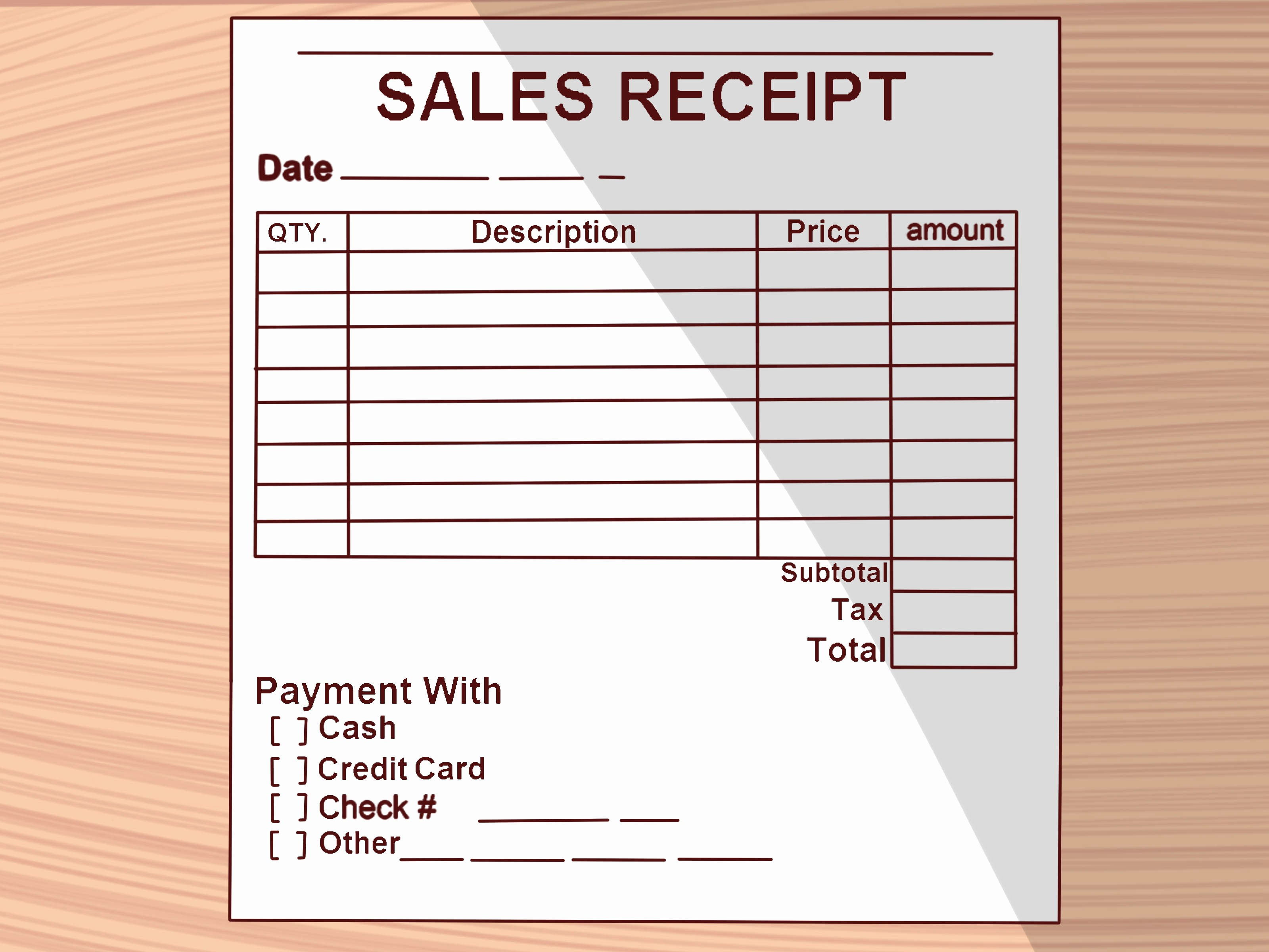 Receipt for Purchase Of Car Inspirational How to Write A Receipt 9 Steps with Wikihow