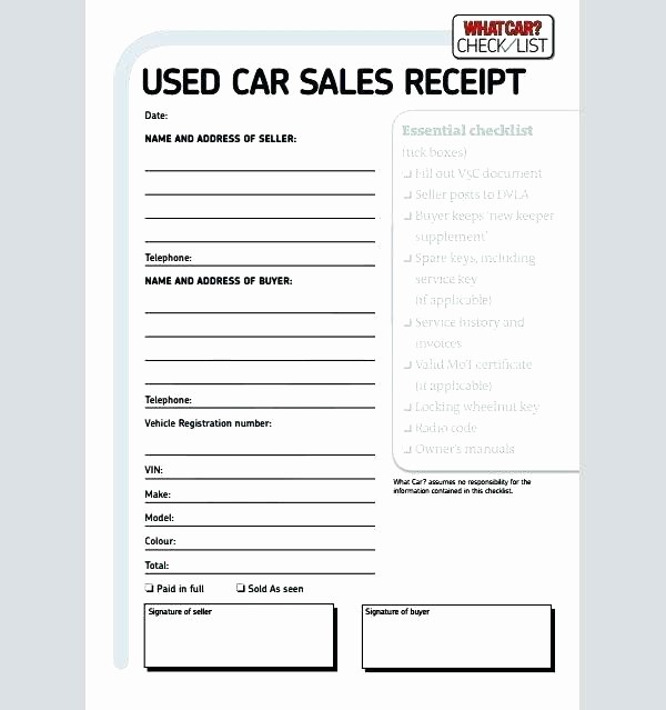 Receipt for Purchase Of Car Lovely Receipt for Car Purchase Car Receipt Template Car Payment