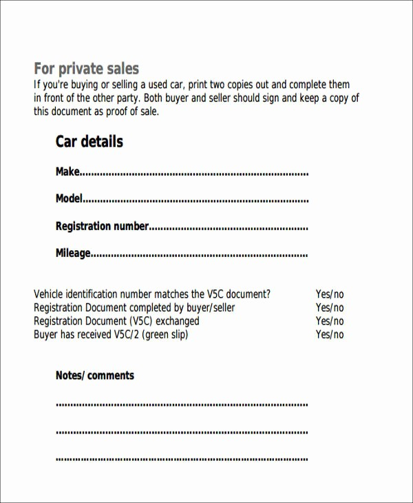 Receipt for Purchase Of Car New 6 Auto Sales Receipt Samples