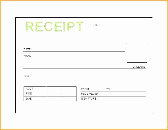 Receipt for Services Template Free New Receipt for Service thevillas