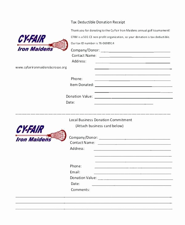 Receipt for Tax Deductible Donation Awesome Charity Donation Receipt Template Tax Free for Non Profit