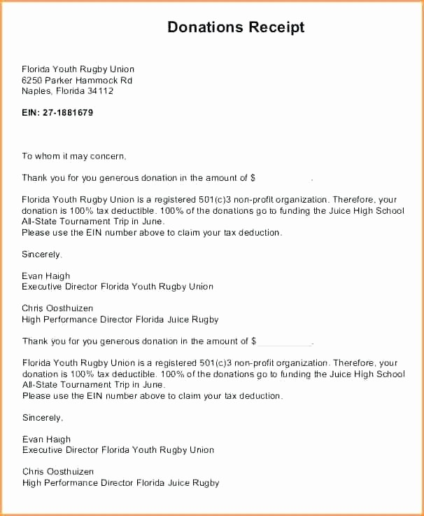 Receipt for Tax Deductible Donation Beautiful Non Profit Donation Receipt Letter Donation Tax Receipt