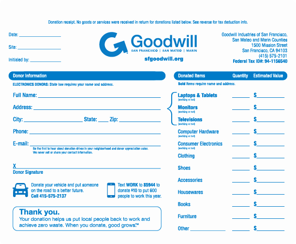 Receipt for Tax Deductible Donation Best Of 9 Best Of Printable Donation Receipts Printable
