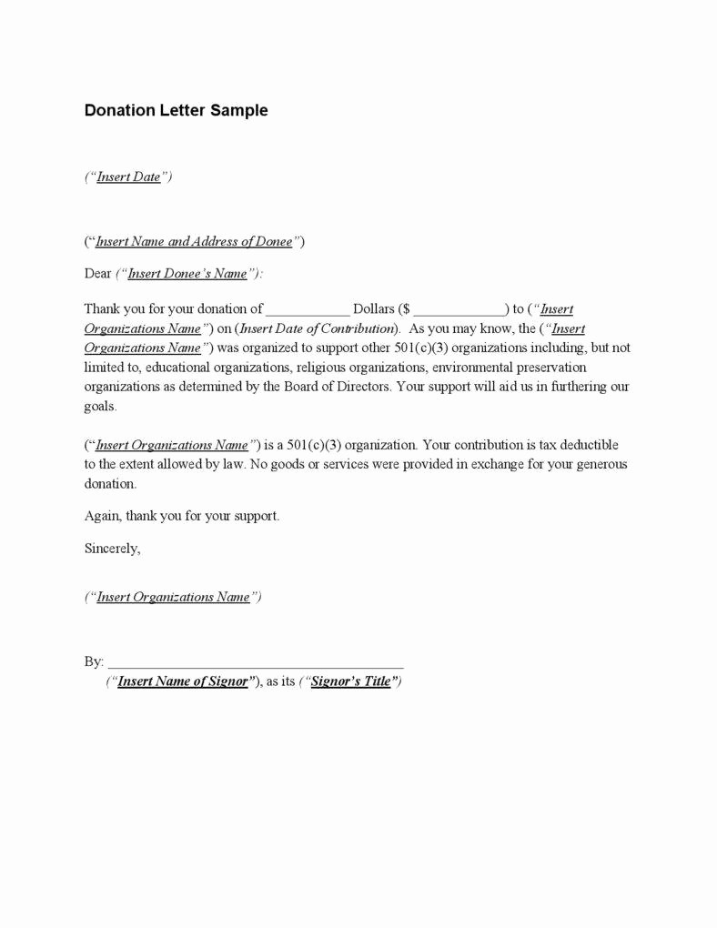 Receipt for Tax Deductible Donation Elegant 28 Acknowledgement Letters Free Samples Examples formats