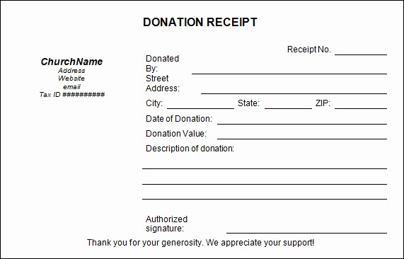 Receipt for Tax Deductible Donation Inspirational Sample Donation Receipt Template 17 Free Documents In