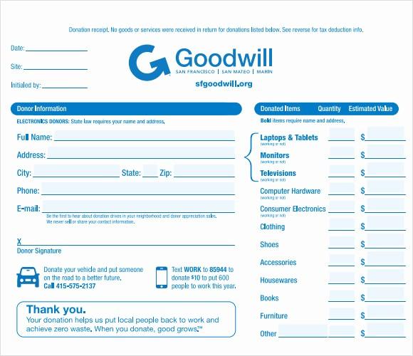 Receipt for Tax Deductible Donation Unique 10 Donation Receipt Templates – Free Samples Examples