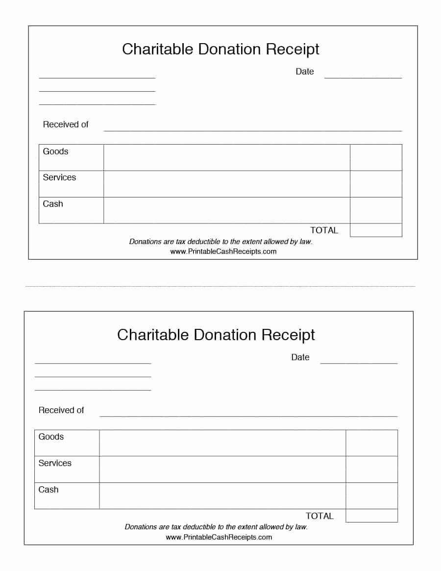 Receipt for Tax Deductible Donation Unique Charitable Donation Receipt Template Free Download Aashe
