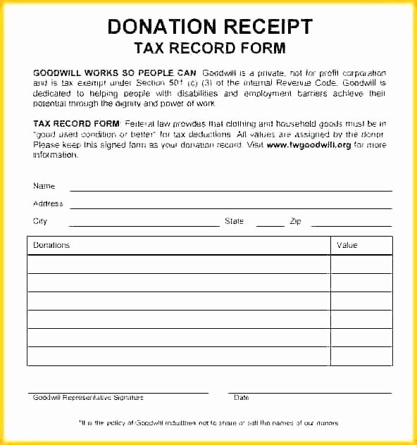 Receipt for Tax Deductible Donation Unique Tax Deductible Donation Receipt Template Fresh Receipt