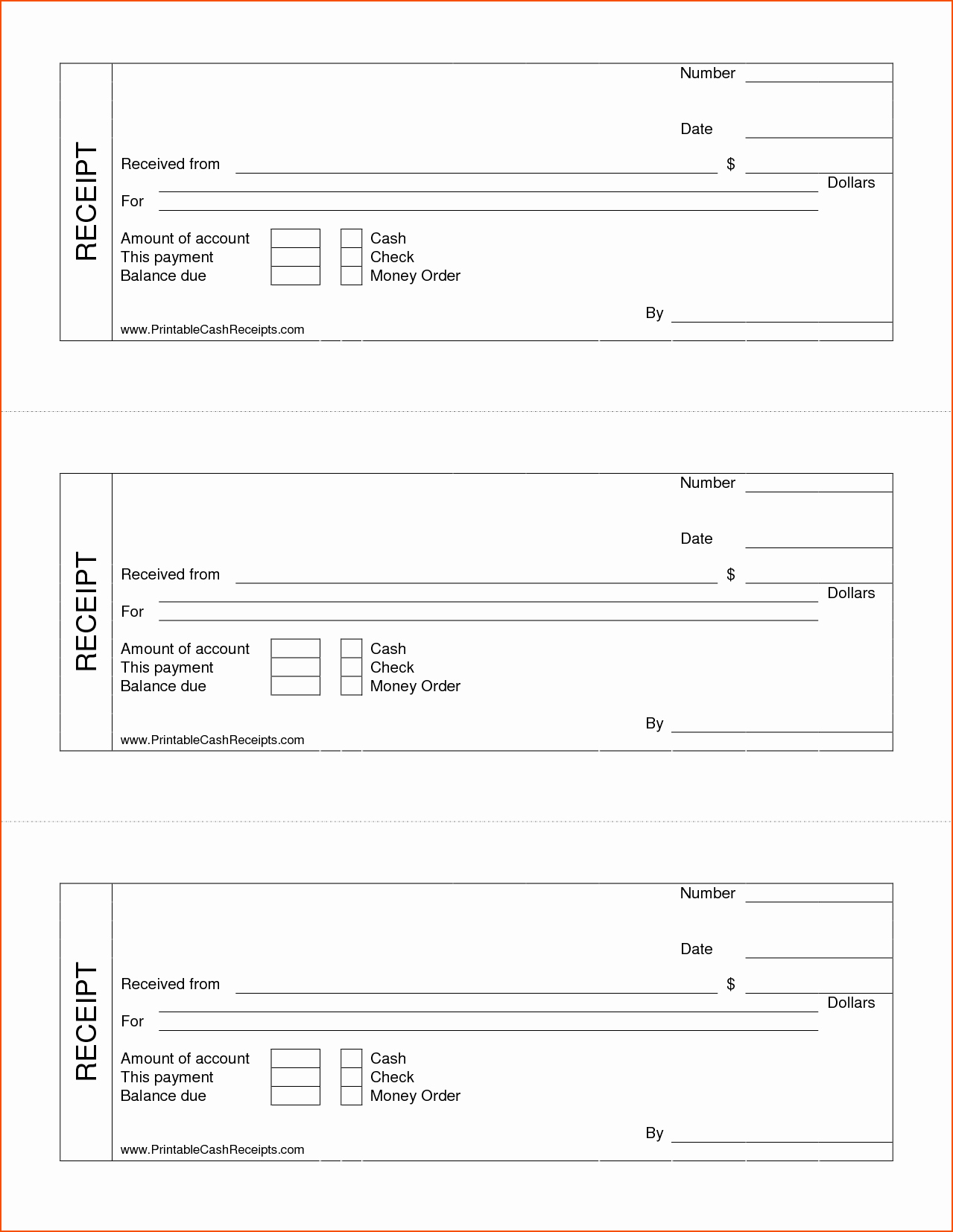 Receipt for Work Done Template Beautiful 7 Printable Cash Receipt Bookletemplate