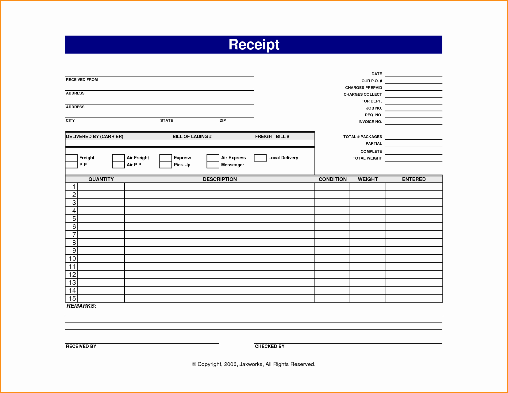 Receipt for Work Done Template Fresh 13 Online Receipt Template
