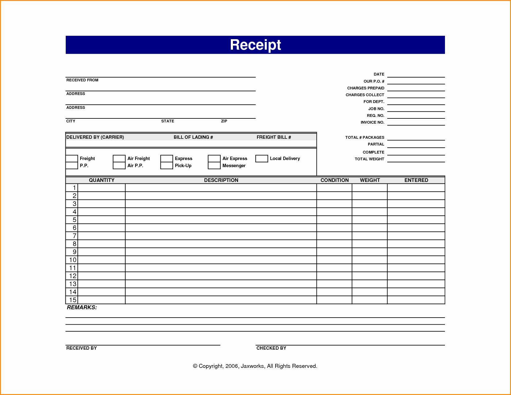 Receipt for Work Done Template Fresh 13 Online Receipt Template