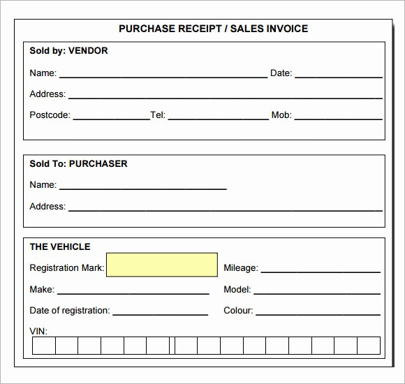 Receipt for Work Done Template Lovely 7 Sample Receipt Templates to Download