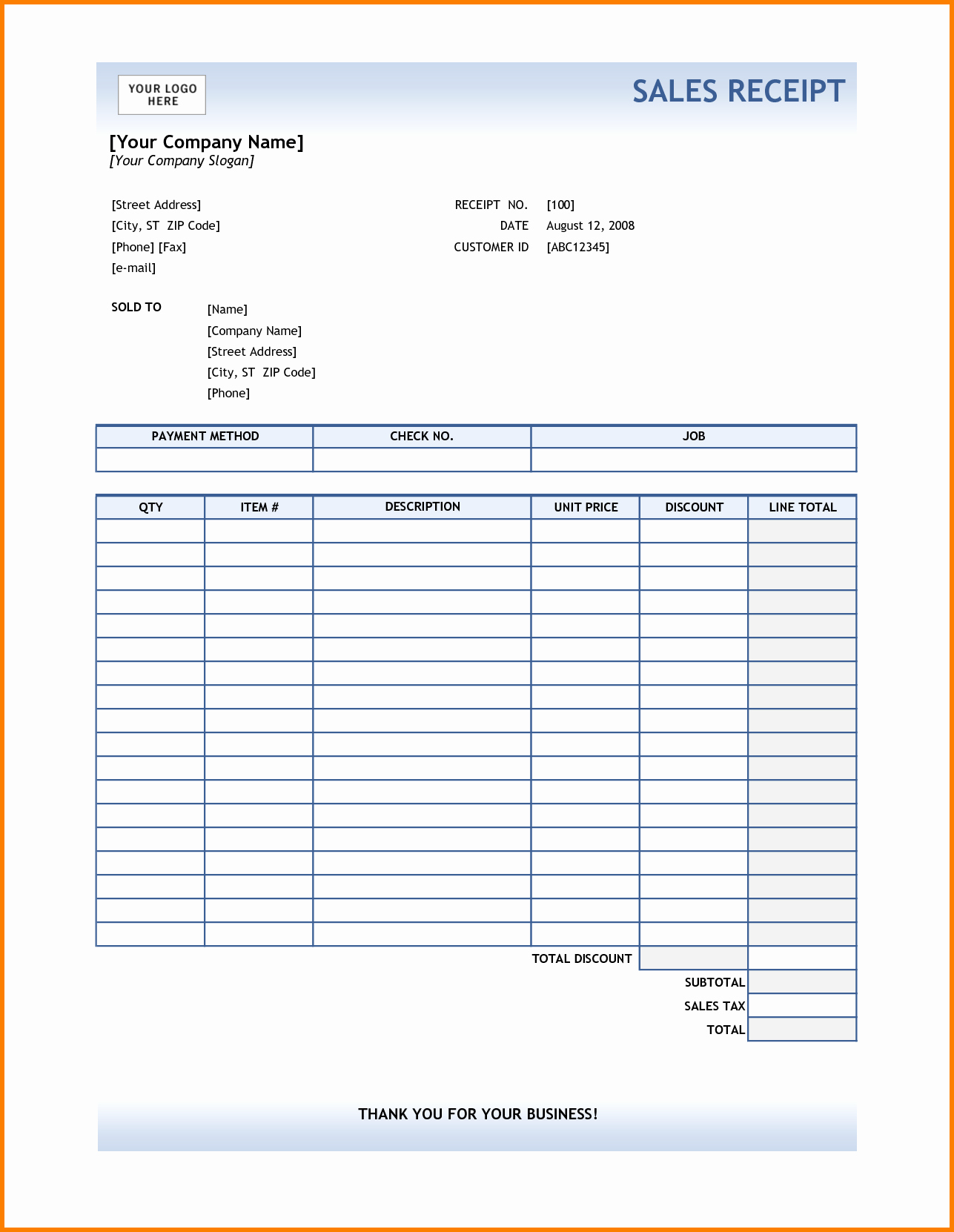 Receipt for Work Done Template Luxury Work Receipts Examples Bing Images