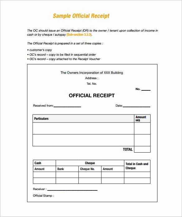 Receipt for Work Done Template New 121 Receipt Templates Doc Excel Ai Pdf