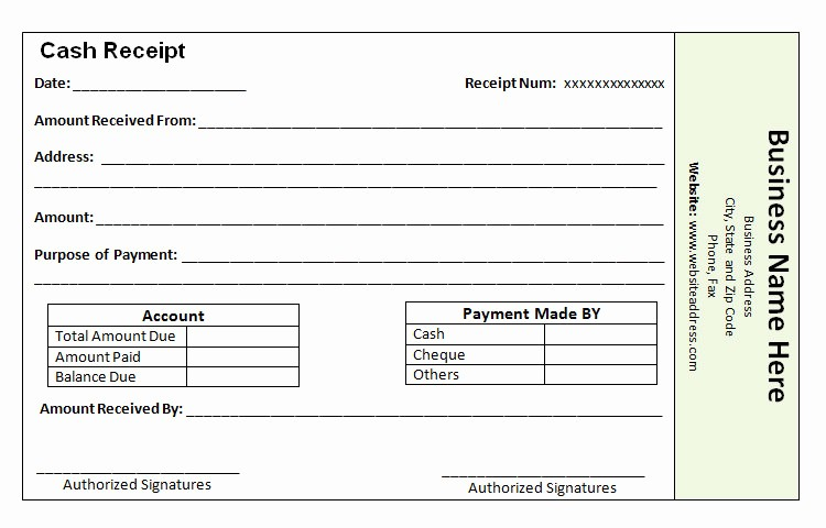 Receipt format for Payment Received Fresh 40 Payment Receipt Templates Doc Pdf