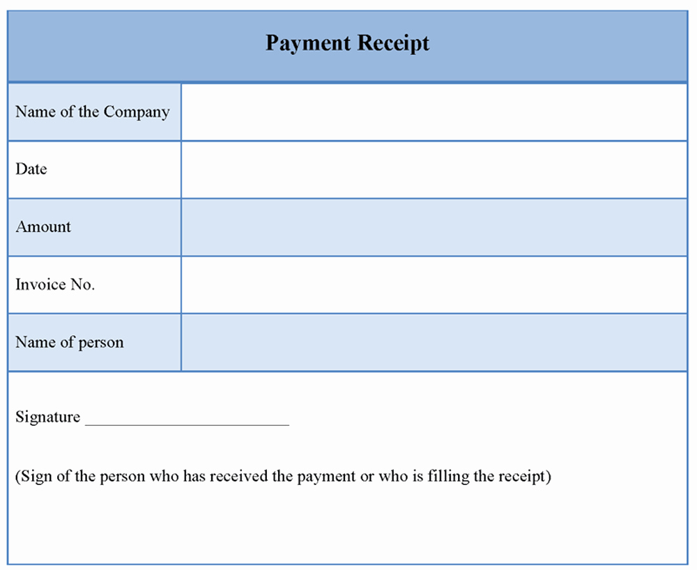 Receipt format for Payment Received Inspirational Receipt Payment Template Word