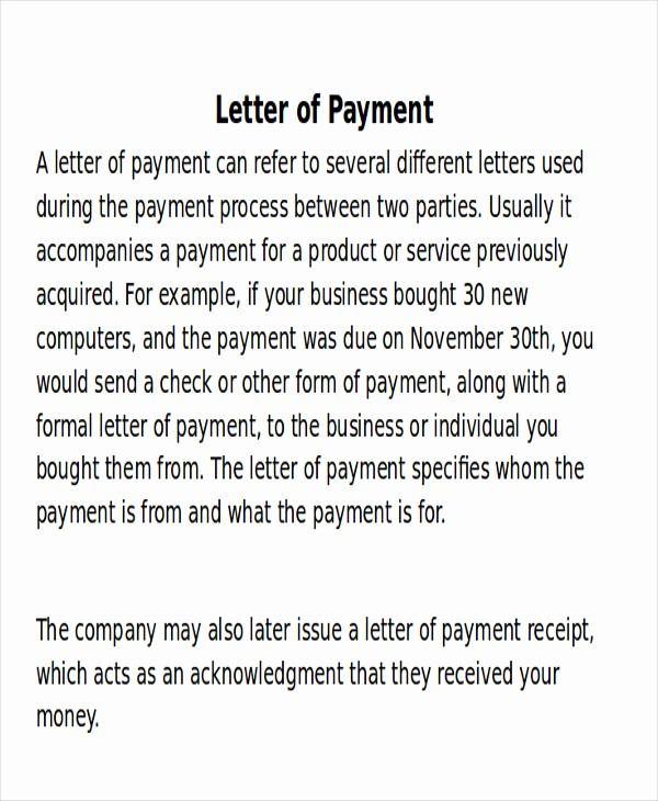 Receipt format for Payment Received Lovely 8 Receipt Of Payment Letters – Pdf