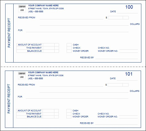 Receipt format for Payment Received New 31 Payment Receipt Samples – Pdf Word Excel Pages