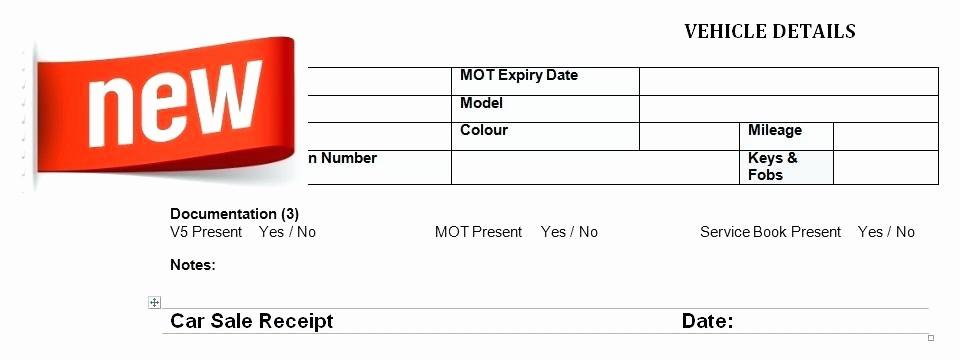 Receipt Of Sales for Car Elegant Used Car Sale Receipt Template Sales – Tangledbeard