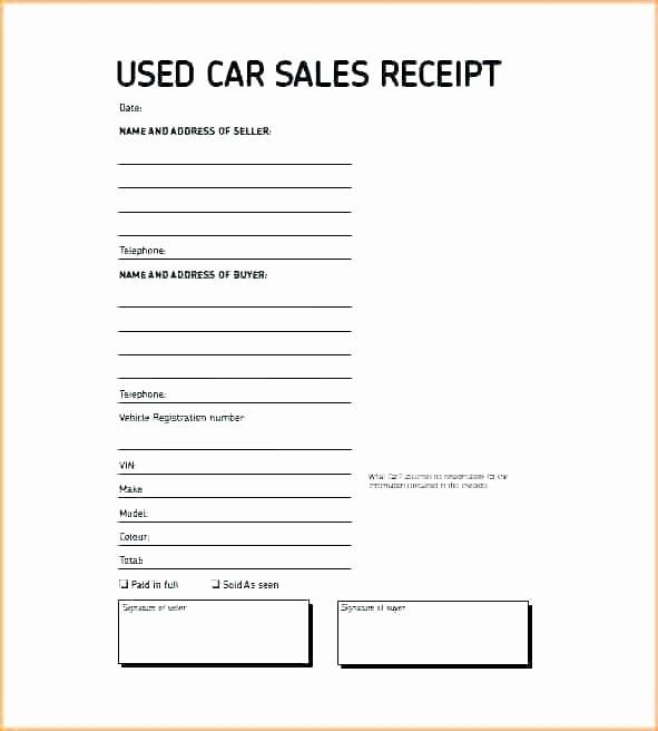 Receipt Of Sales for Car Lovely Car Sales Contract Sample Ideasplataforma