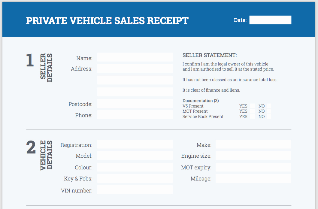 Receipt Of Sales for Car Lovely Free Used Car Sales Receipt