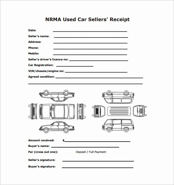 Receipt Template for Car Sale Best Of 13 Car Sale Receipt Templates Doc Pdf