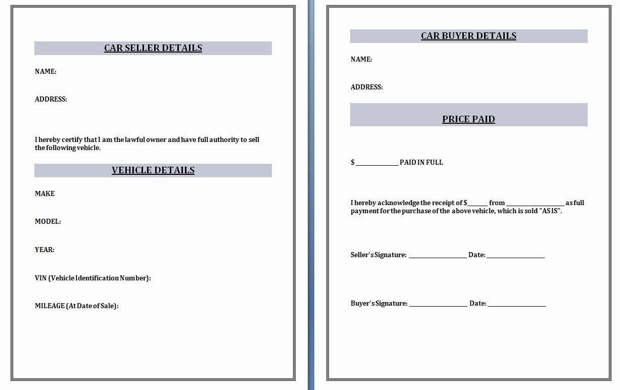 Receipt Template for Car Sale Unique Car Sales Invoice Template Invoice Template Ideas
