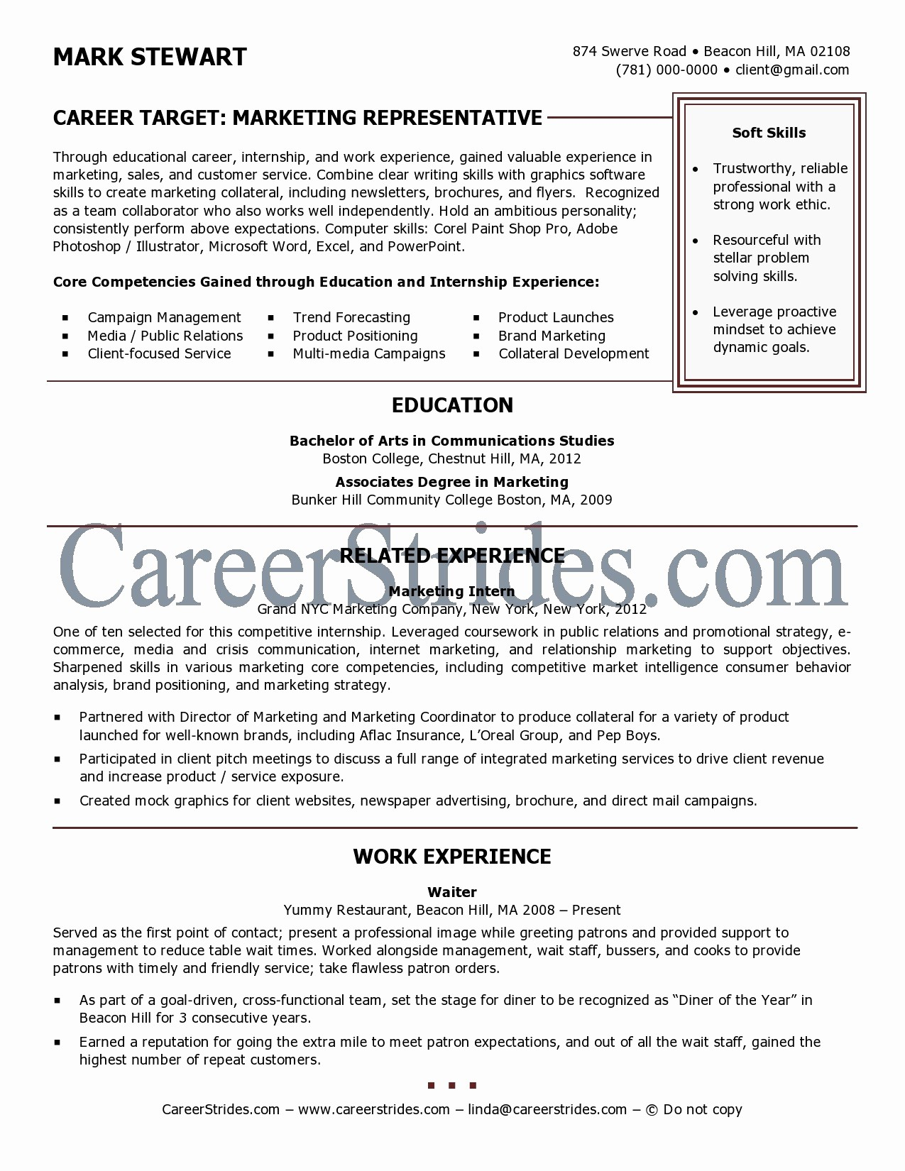Recent College Graduate Resume Template Elegant Review Resume Samples In A Wide Range Of Careers