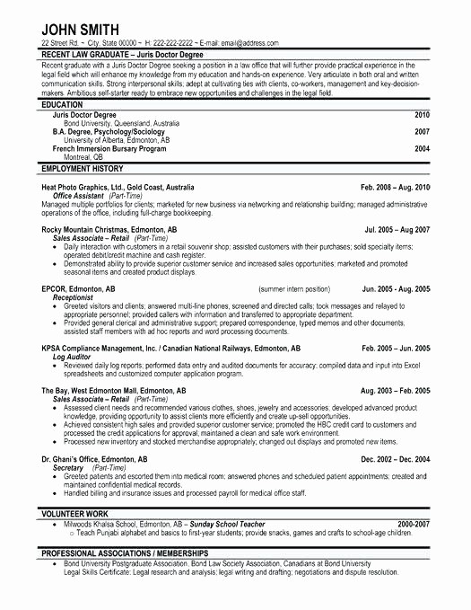Recent College Graduate Resume Template Lovely Recent College Graduate Resume Sarahepps