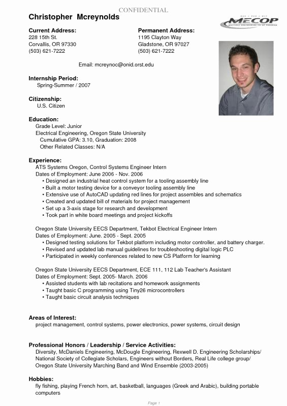 Recent College Graduate Resume Template Luxury Recent College Graduate Resume Template