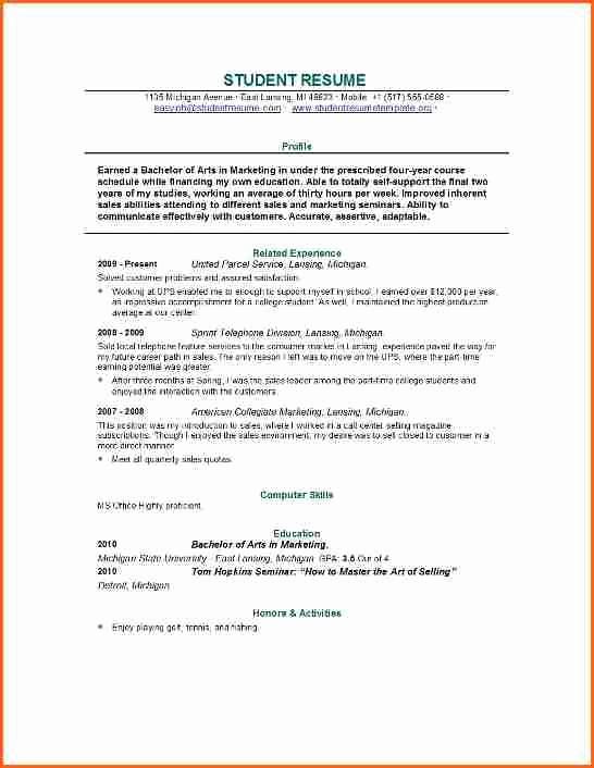 Recent College Graduate Resume Template Unique 10 Resume Template for Recent College Graduate Bud