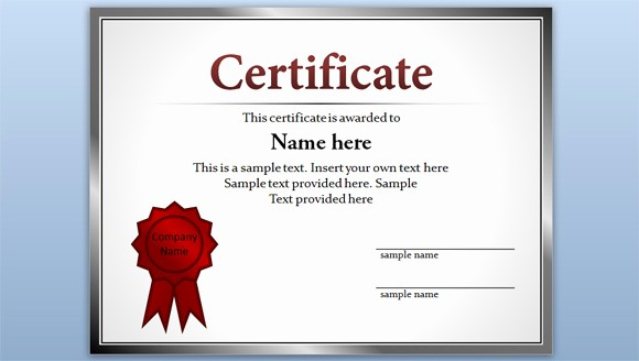 Recognition Certificate Templates Free Printable Awesome Free Certificate Template for Powerpoint 2010 & 2013