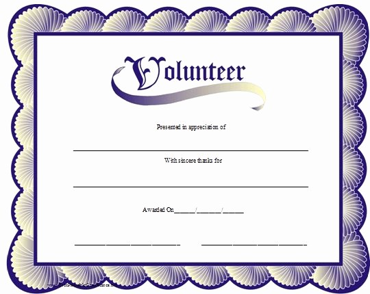 Recognition Certificate Templates Free Printable Best Of A Printable Volunteer Certificate with A Blue Scalloped