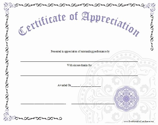 Recognition Certificate Templates Free Printable Best Of the 25 Best Certificate Of Appreciation Ideas On