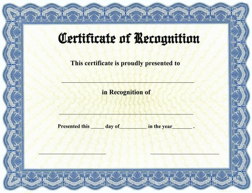 Recognition Certificate Templates Free Printable Elegant 20 Certificate Of Recognition Template [word Excel Pdf]