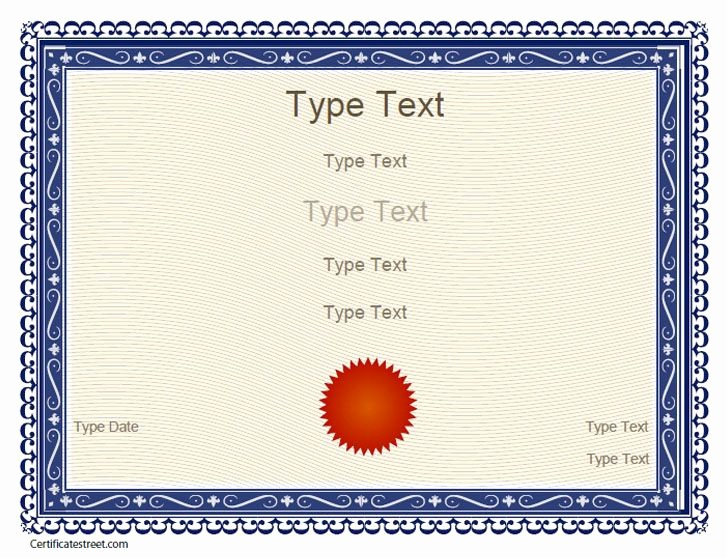 Recognition Certificate Templates Free Printable New Free Certificate Templates