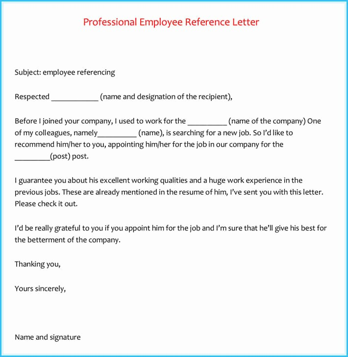Recommendation Letter for An Employee Unique 20 Best Reference Letter Examples and Writing Tips