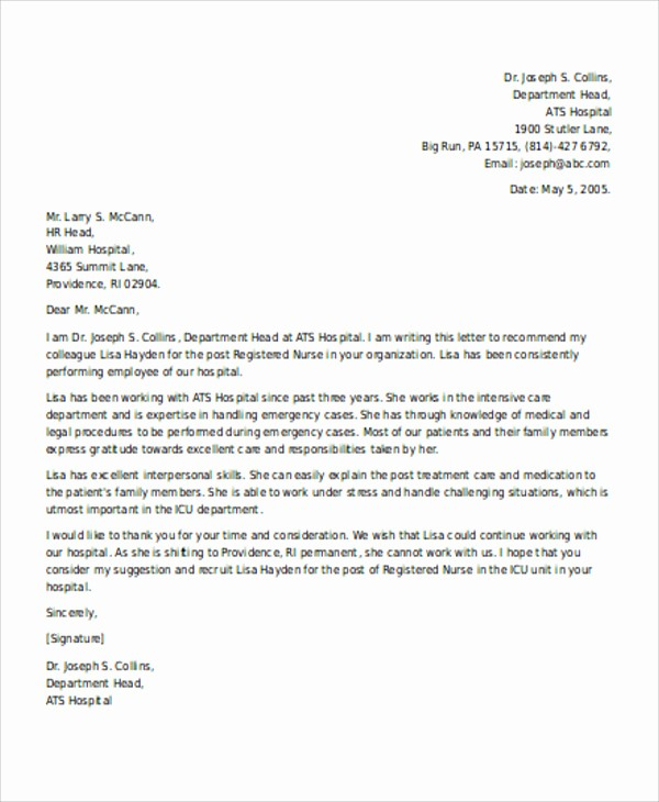 Recommendation Letter for Job Reference New 13 Employee Reference Letters Free Samples Examples