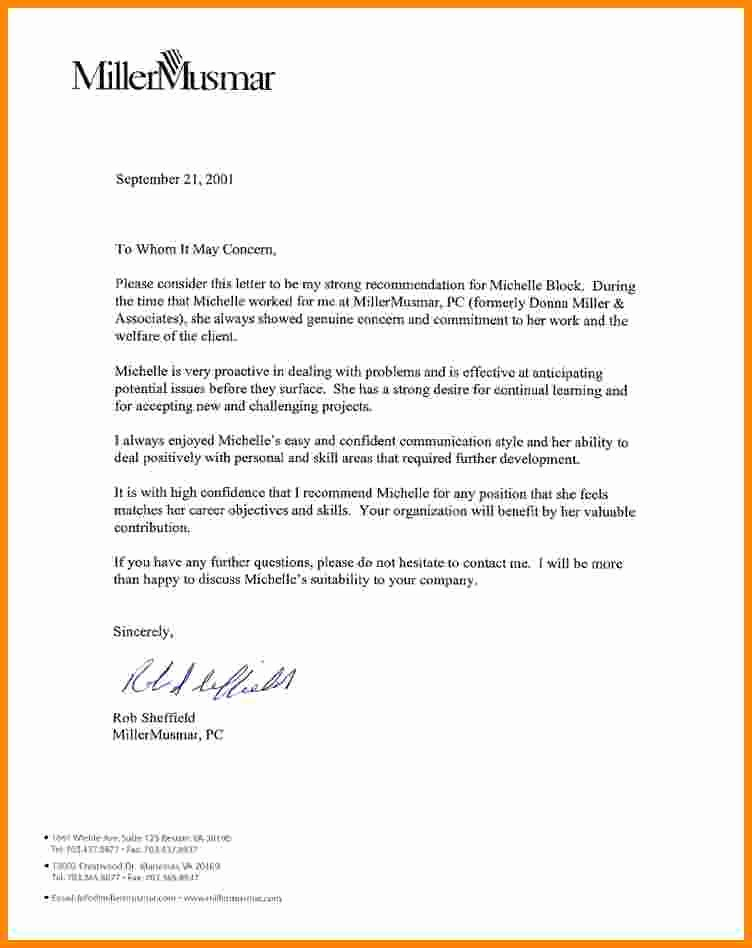 Recommendation Letter for Job Reference New 7 Job Re Mendation Letters