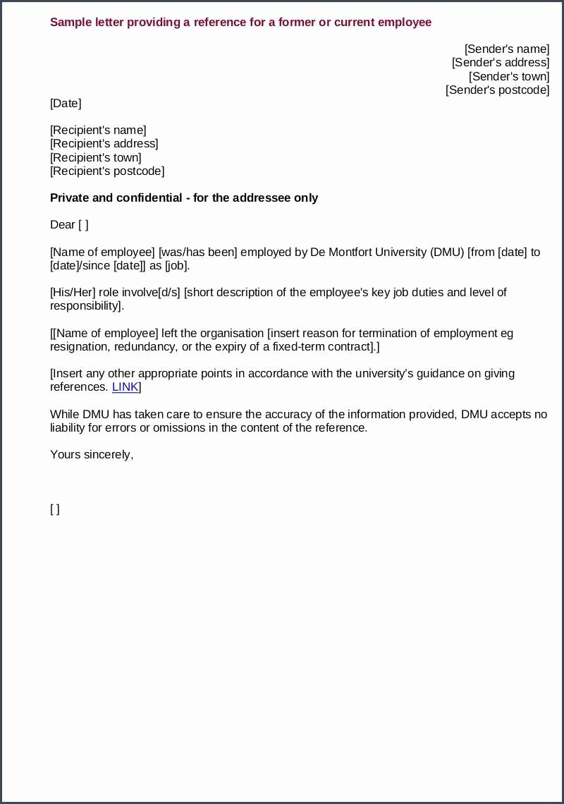 Recommendation Letter for Job Sample Awesome Job Re Mendation Sample and 10 Job Re Mendation Letters