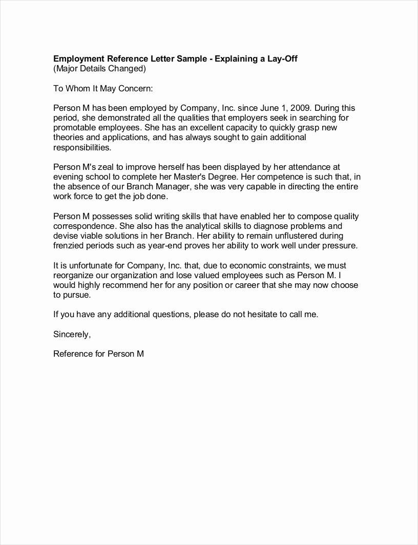 Recommendation Letter for Job Sample Beautiful 9 Employment Re Mendation Letter