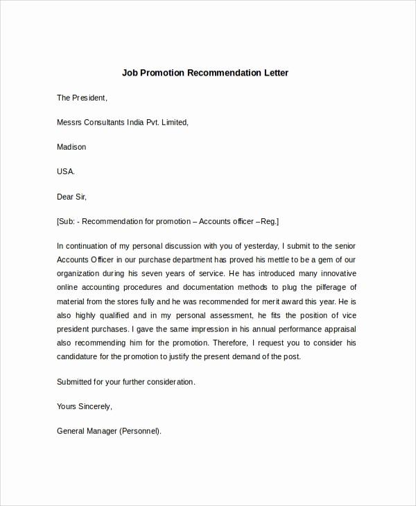 Recommendation Letter for Job Sample Best Of 7 Sample Job Re Mendation Letters