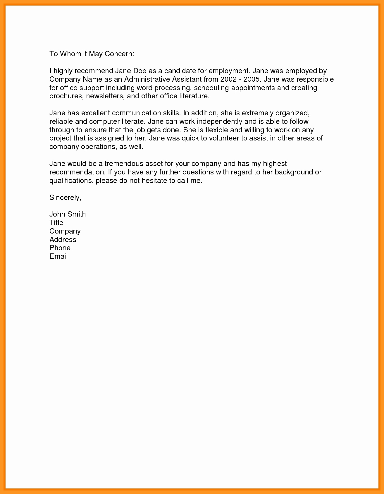 Recommendation Letter for Job Sample Luxury Affordable Essay Crafting assistance Stampa