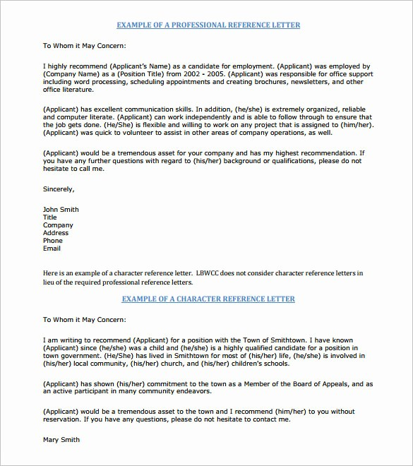Recommendation Letter for Job Template New 11 Job Re Mendation Letters – Free Sample Example