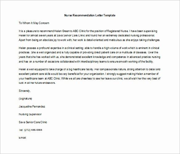 Recommendation Letter for Job Template Unique 10 Job Re Mendation Letter Templates Doc