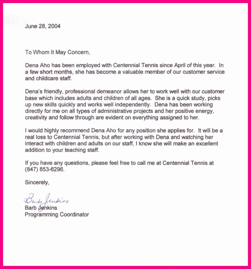 Recommendation Letter Sample From Employer Awesome Sample Re Mendation Letter From Previous Employer