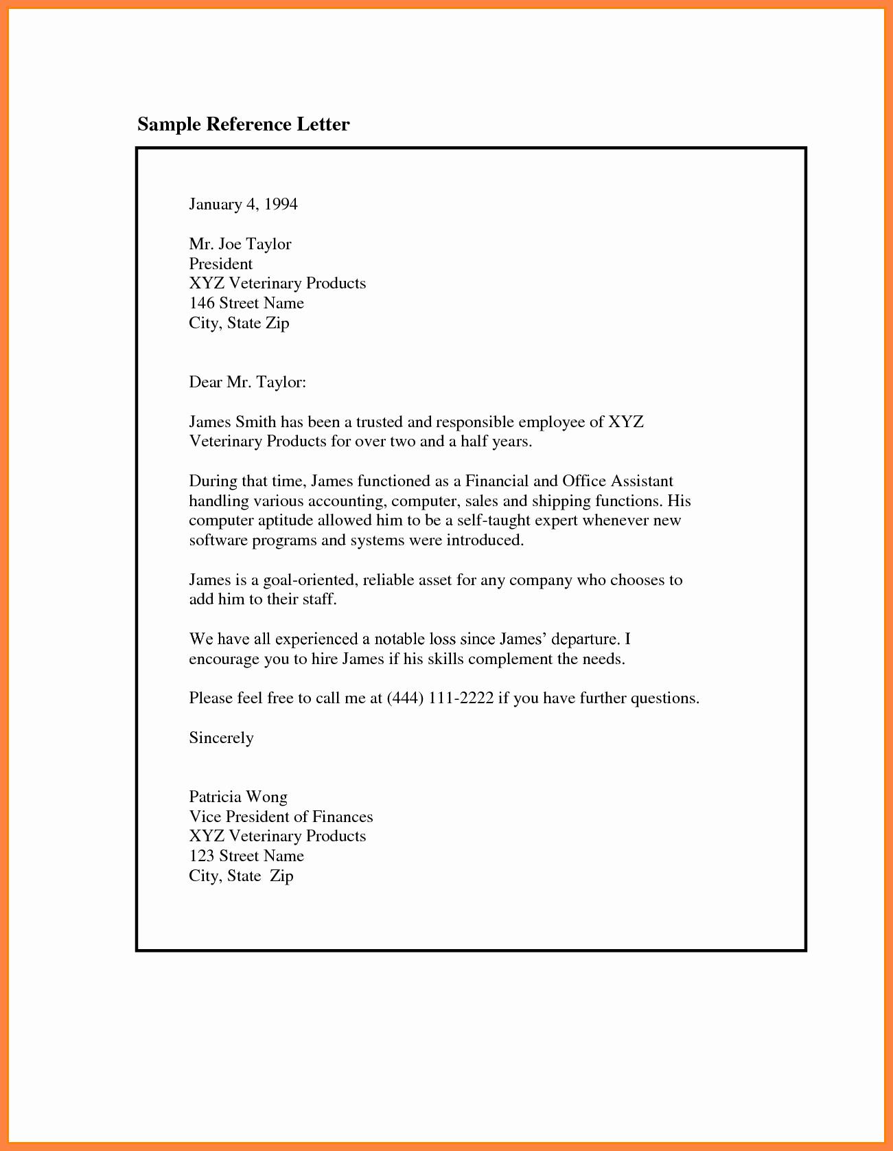 Recommendation Letter Sample From Employer Elegant 9 Re Mendation Letter for Employee