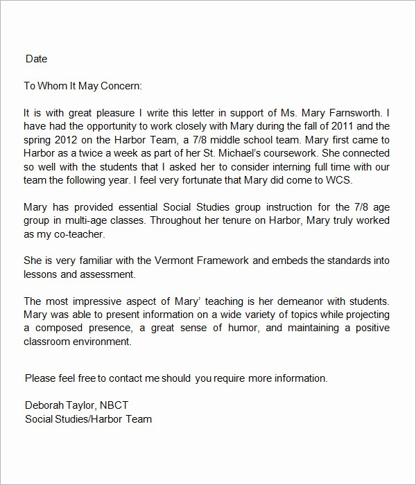 Recommendation Letter Template for Teacher Beautiful 18 Letter Of Re Mendation for Teacher Samples – Pdf