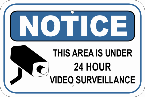 Recording In Progress Door Sign Beautiful Notice Video Camera Surveillance Aluminum Sign Custom Signs